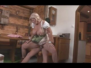 German Saggy Tits Granny Fucks Young Guy